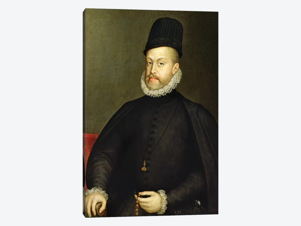 Philip II, c.1565 (Partially Restored) by Sofonisba Anguissola 1-piece Canvas Wall Art