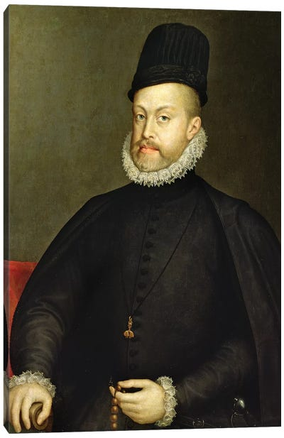Philip II, c.1565 (Partially Restored) Canvas Art Print