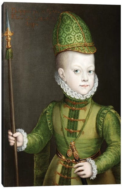 Portrait Of A Boy At The Spanish Court, c.1565-70 Canvas Art Print
