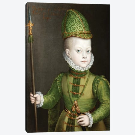 Portrait Of A Boy At The Spanish Court, c.1565-70 Canvas Print #BMN7675} by Sofonisba Anguissola Canvas Artwork