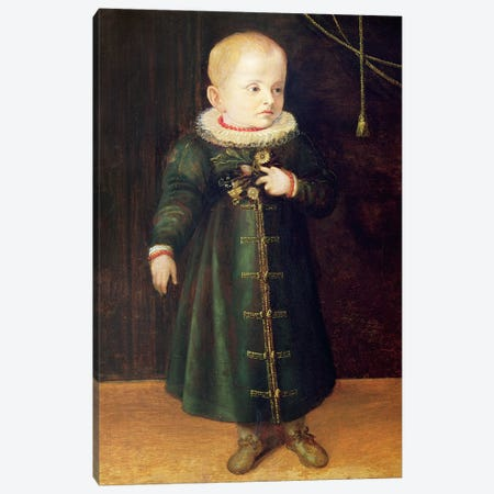 Portrait Of A Child (Emerald Outfit) Canvas Print #BMN7676} by Sofonisba Anguissola Canvas Art
