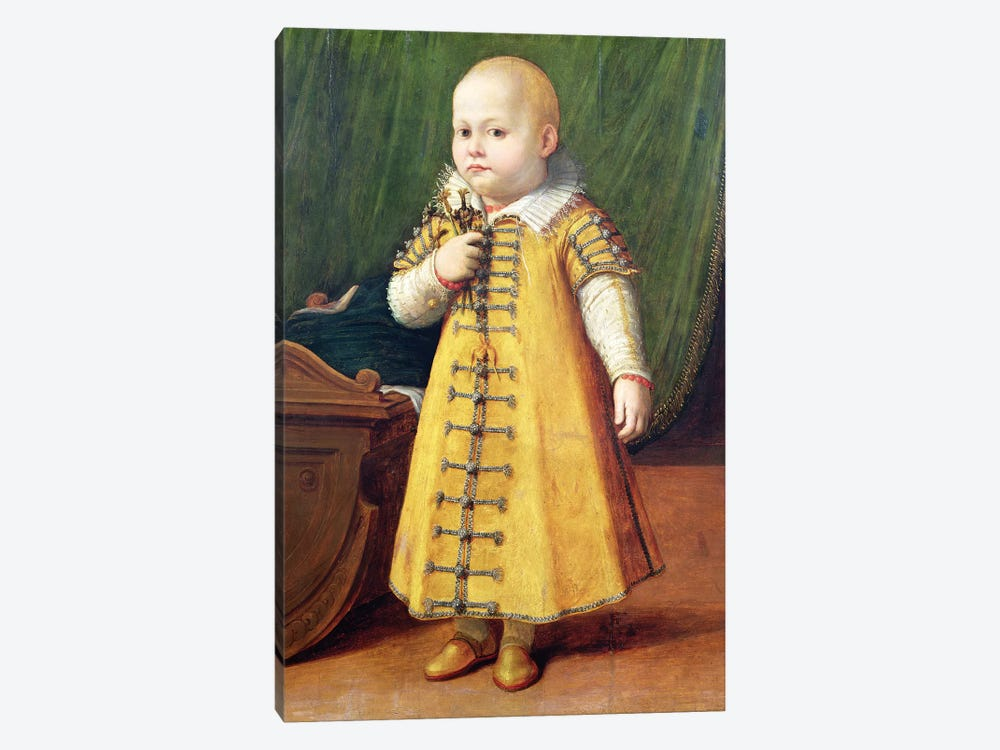 Portrait Of A Child (Golden Outfit) by Sofonisba Anguissola 1-piece Canvas Art Print