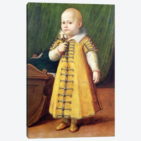 Portrait Of A Child (Golden Outfit) Canvas Print #BMN7677} by Sofonisba Anguissola Canvas Art
