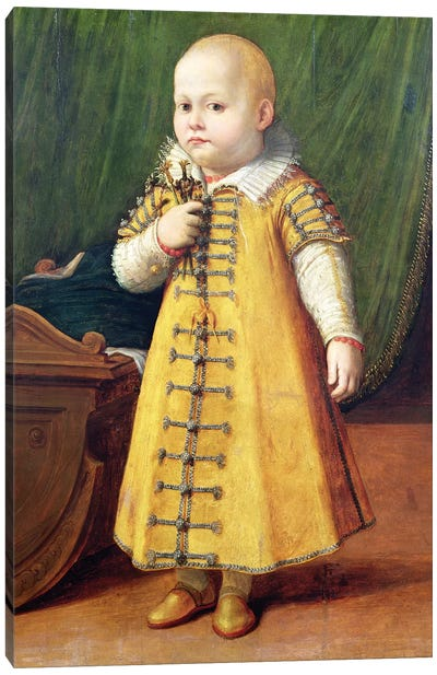 Portrait Of A Child (Golden Outfit) Canvas Art Print