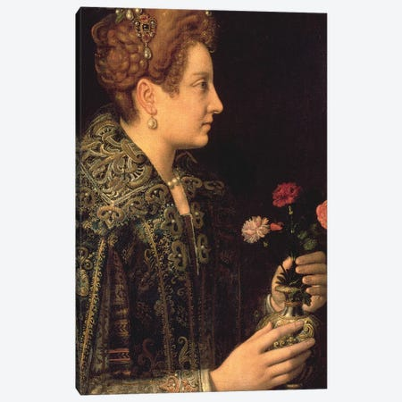 Portrait Of A Woman Canvas Print #BMN7678} by Sofonisba Anguissola Canvas Art Print