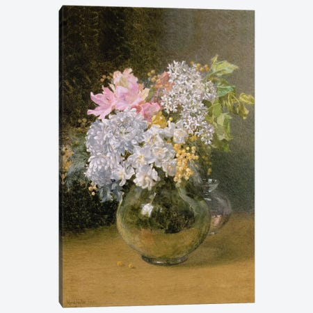 Spring Flowers in a Vase Canvas Print #BMN767} by Maud Naftel Canvas Wall Art