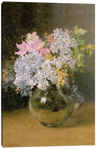 Spring Flowers in a Vase Canvas Art Print
