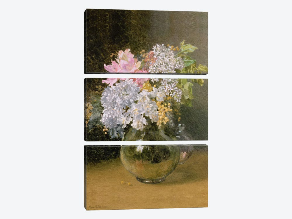 Spring Flowers in a Vase by Maud Naftel 3-piece Canvas Art Print