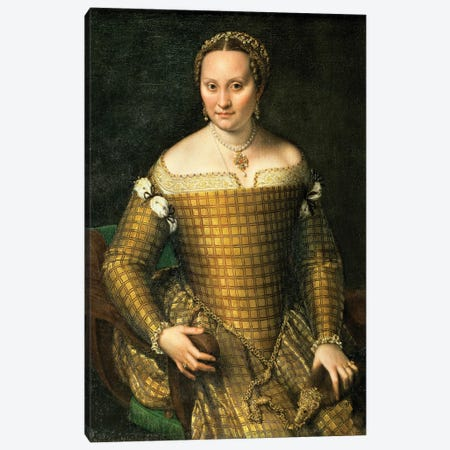 Portrait Of The Artist's Mother, Bianca Ponzoni Anguisciola, 1557 Canvas Print #BMN7681} by Sofonisba Anguissola Canvas Wall Art