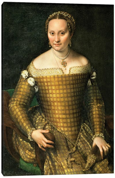 Portrait Of The Artist's Mother, Bianca Ponzoni Anguisciola, 1557 Canvas Art Print