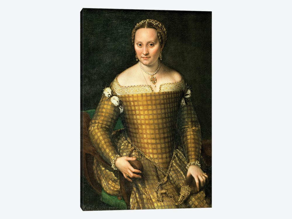 Portrait Of The Artist's Mother, Bianca Ponzoni Anguisciola, 1557 1-piece Canvas Artwork