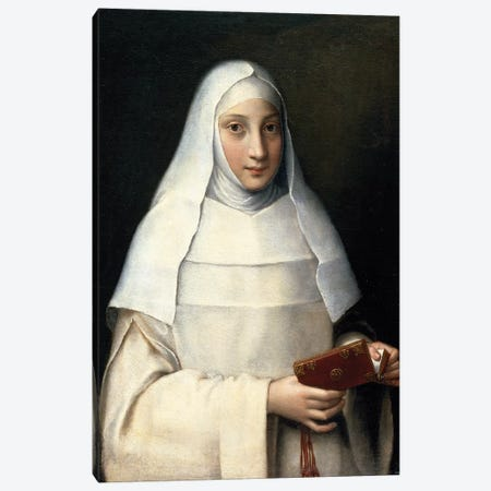 Portrait Of The Artist's Sister In The Garb Of A Nun Canvas Print #BMN7682} by Sofonisba Anguissola Canvas Artwork