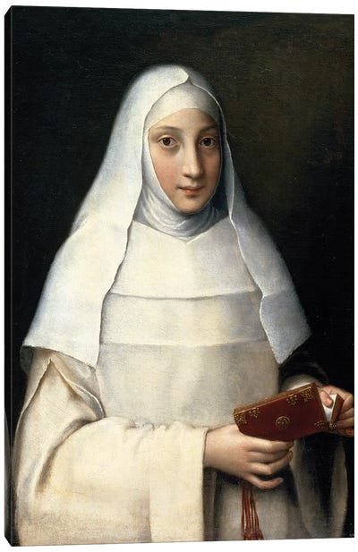 Portrait Of The Artist's Sister In The Garb Of A Nun Canvas Art Print