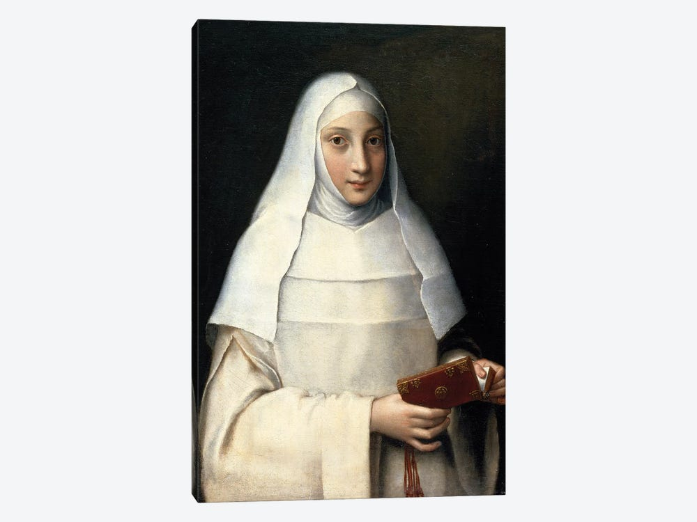 Portrait Of The Artist's Sister In The Garb Of A Nun by Sofonisba Anguissola 1-piece Canvas Art Print
