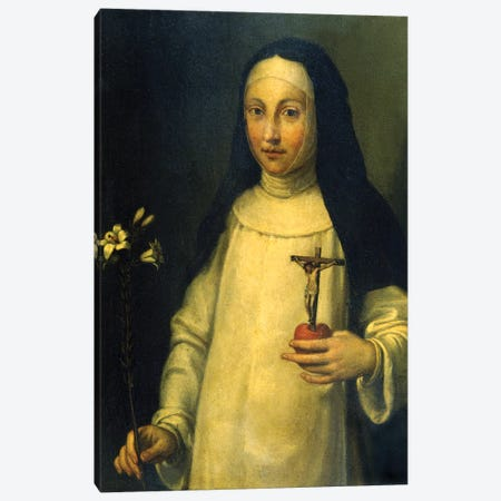 Saint Lucy (Santa Lucia) Canvas Print #BMN7683} by Sofonisba Anguissola Canvas Wall Art