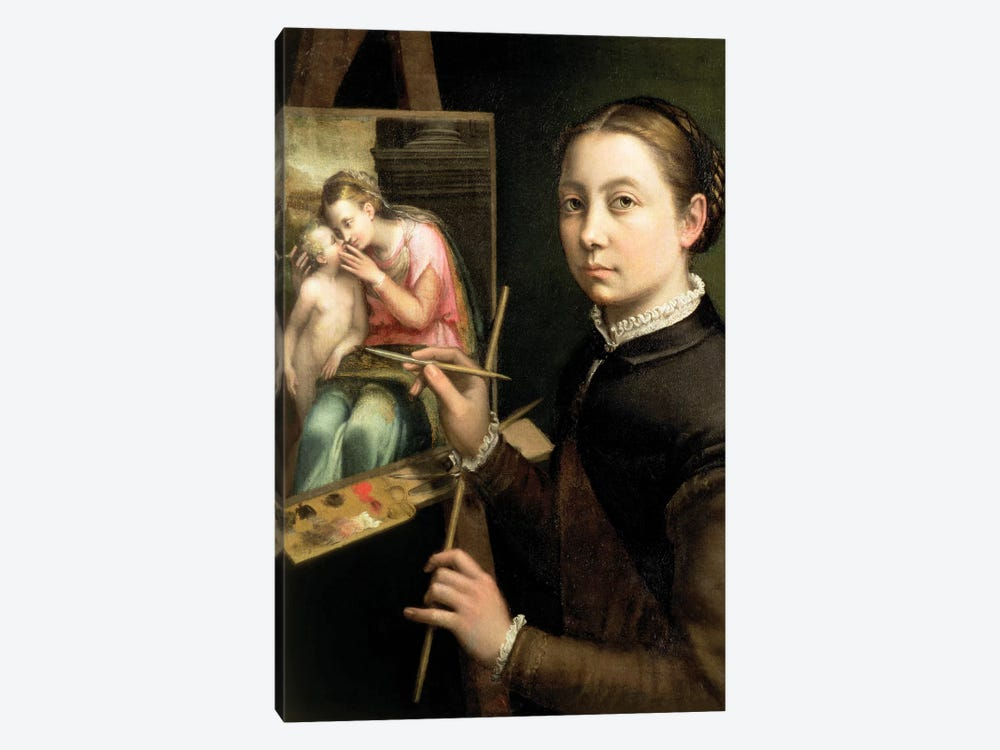 Self Portrait At The Easel, 1556 by Sofonisba Anguissola 1-piece Canvas Art Print
