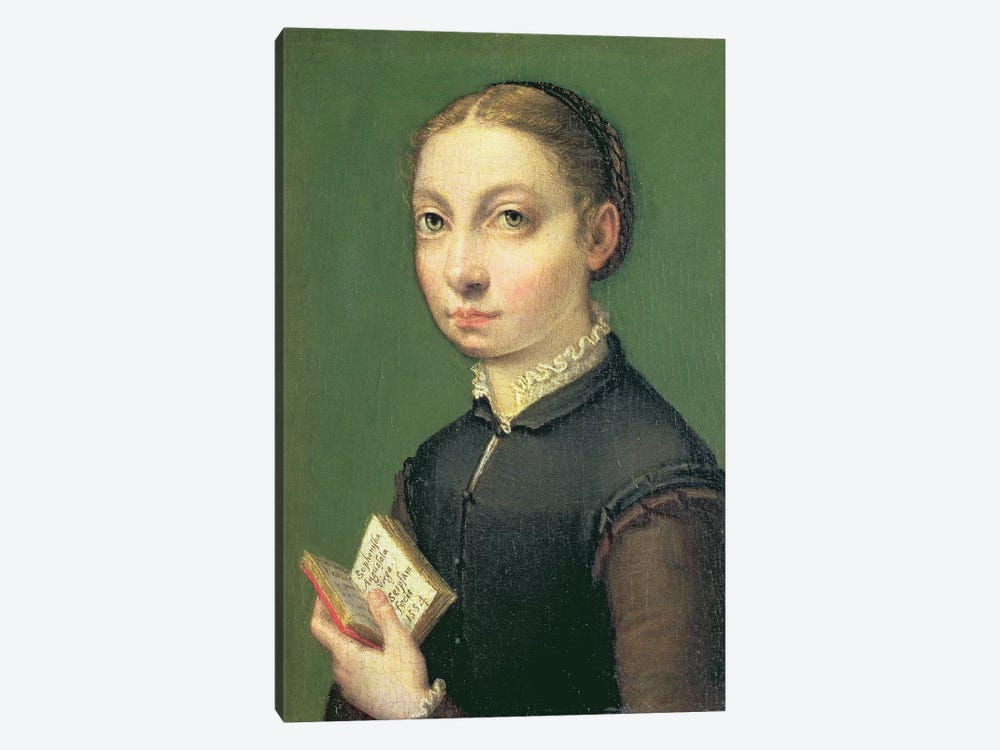 Self Portrait, 1554 by Sofonisba Anguissola 1-piece Canvas Art