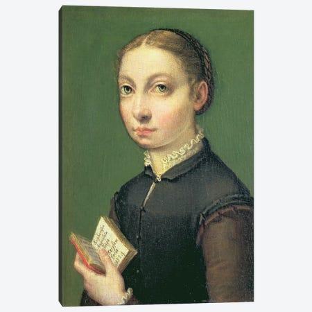 Self Portrait, 1554 3-Piece Canvas #BMN7685} by Sofonisba Anguissola Art Print