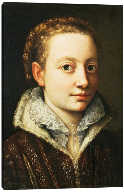Self Portrait, 1560-61 Canvas Art Print