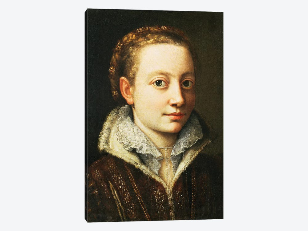 Self Portrait, 1560-61 by Sofonisba Anguissola 1-piece Canvas Art Print