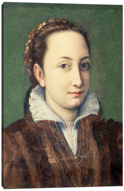 Self Portrait, Attired As Maid-Of-Honour To The Queen Of Spain, 1559 Canvas Art Print