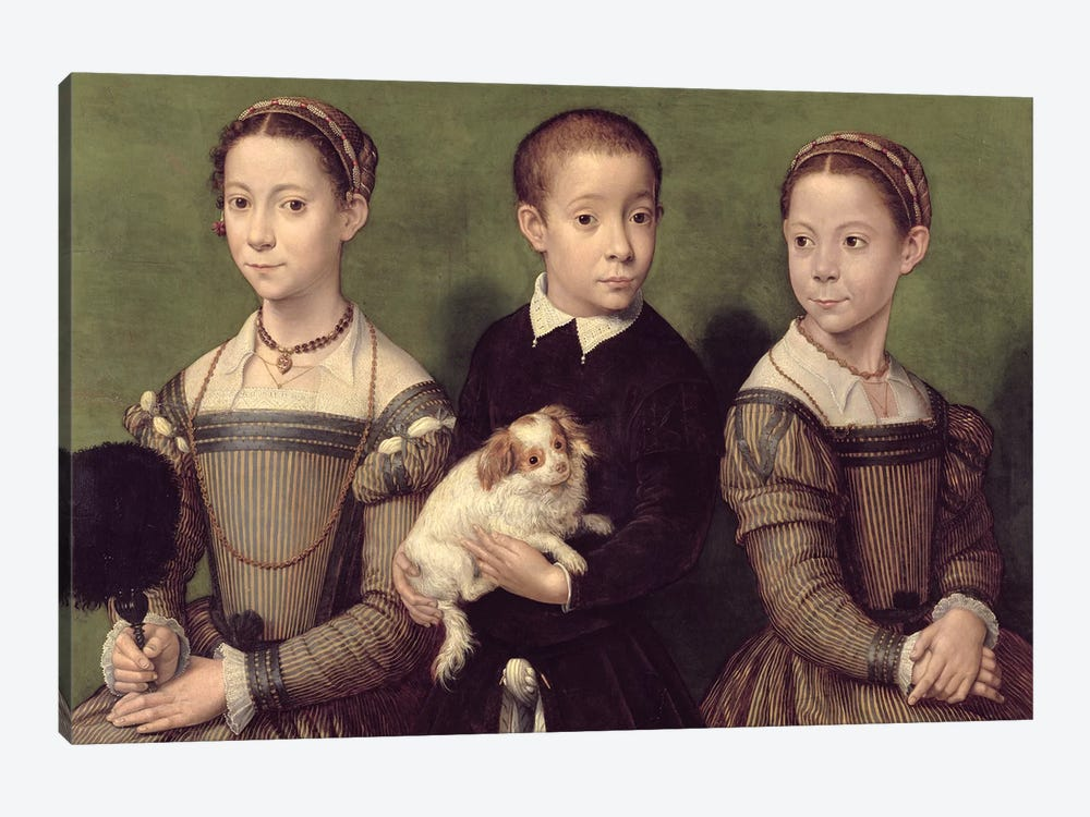 Two Sisters And A Brother Of The Artist by Sofonisba Anguissola 1-piece Art Print