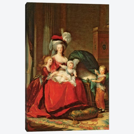 Marie Antoinette And Her Children, 1787 Canvas Print #BMN7689} by Elisabeth Louise Vigee Le Brun Canvas Artwork