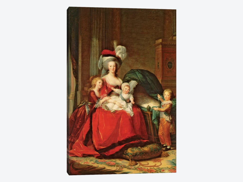 Marie Antoinette And Her Children, 1787 by Elisabeth Louise Vigee Le Brun 1-piece Canvas Art