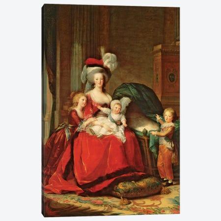 Marie Antoinette And Her Children, 1787 3-Piece Canvas #BMN7689} by Elisabeth Louise Vigee Le Brun Canvas Artwork