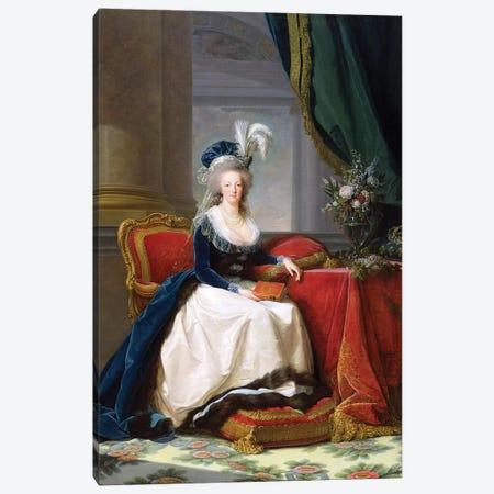 Marie Antoinette, 1788 Canvas Print #BMN7690} by Elisabeth Louise Vigee Le Brun Art Print