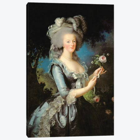 Marie Antoinette With A Rose, 1783 Canvas Print #BMN7691} by Elisabeth Louise Vigee Le Brun Art Print