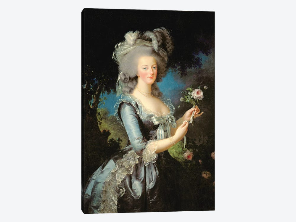 Marie Antoinette With A Rose Elisabeth Louise Vigee