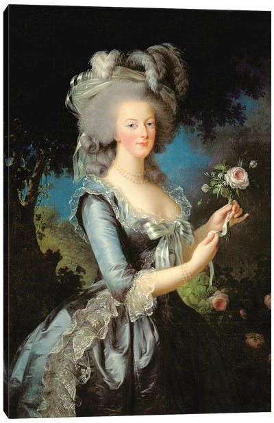 Marie Antoinette With A Rose, 1783 Canvas Art Print