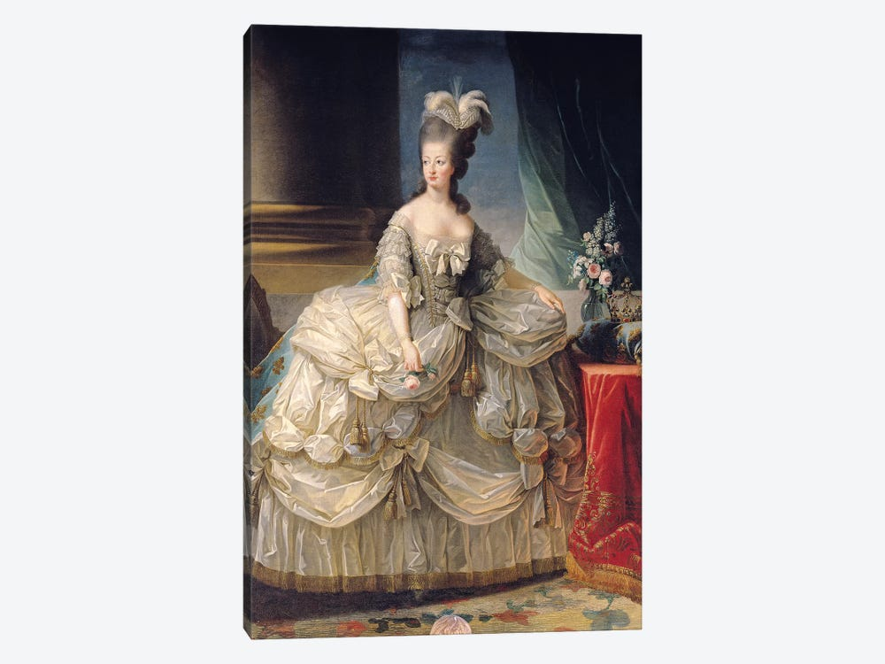 Marie Antoinette, Queen Of France, 1779 by Elisabeth Louise Vigee Le Brun 1-piece Canvas Artwork