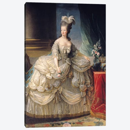 Marie Antoinette, Queen Of France, 1779 Canvas Print #BMN7692} by Elisabeth Louise Vigee Le Brun Canvas Art Print