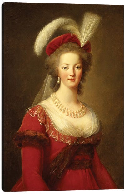Portrait Of Marie Antoinette, Queen Of France Canvas Art Print