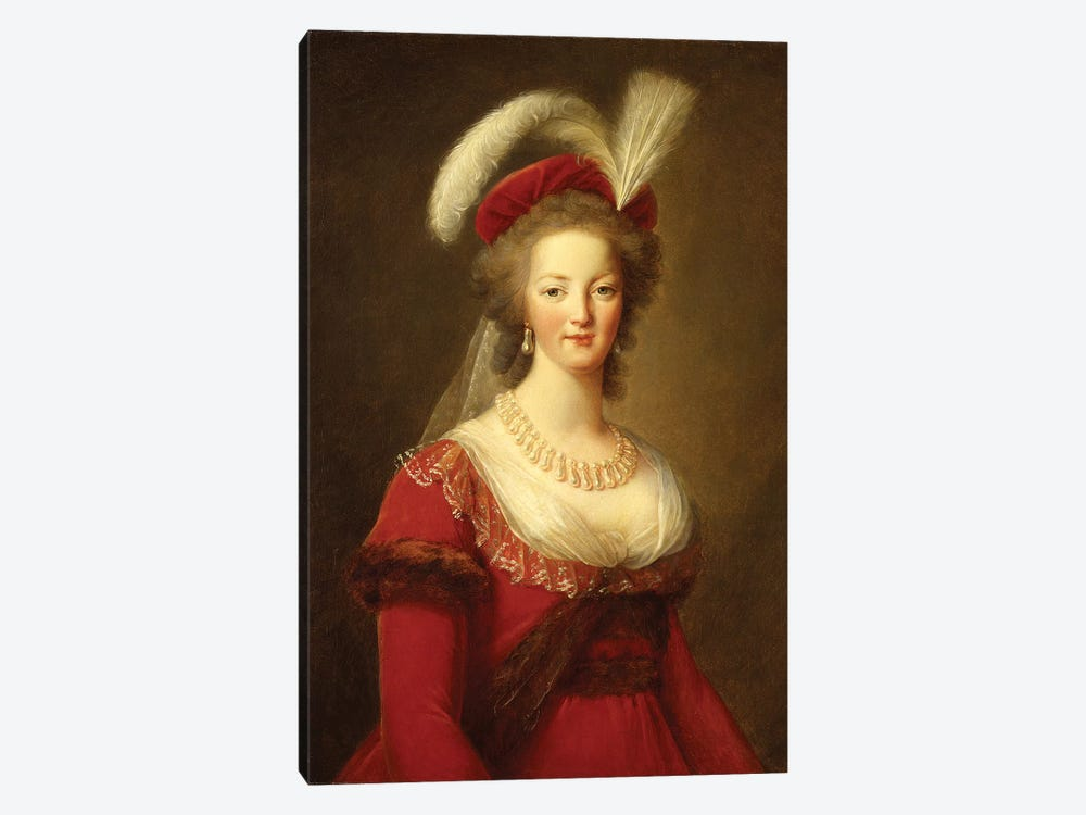 Portrait Of Marie Antoinette, Queen Of France by Elisabeth Louise Vigee Le Brun 1-piece Art Print