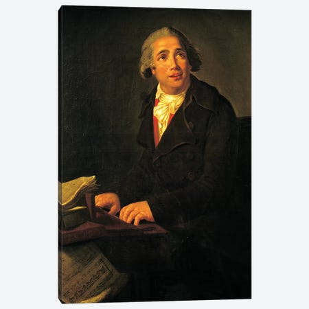 Portrait Of Giovanni Paisiello (Museo Storico Musicale, Naples) Canvas Print #BMN7694} by Elisabeth Louise Vigee Le Brun Canvas Wall Art