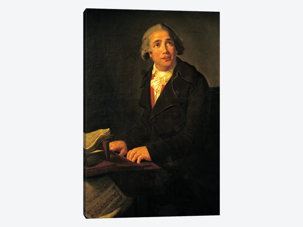 Portrait Of Giovanni Paisiello (Museo Storico Musicale, Naples) by Elisabeth Louise Vigee Le Brun 1-piece Canvas Artwork