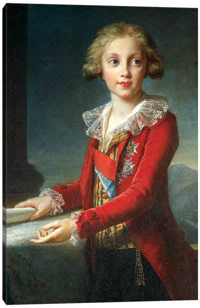 Portrait Of Francis I Of The Two Sicilies (Francis Of Bourbon), c.1790 Canvas Art Print