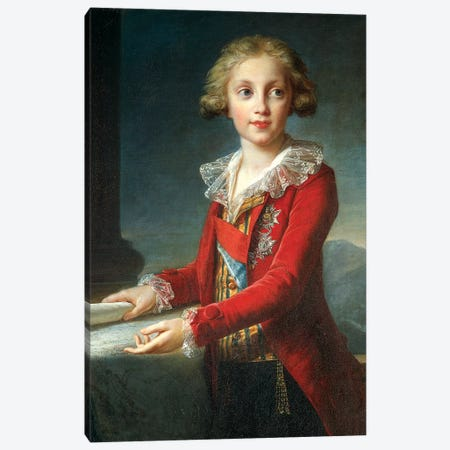 Portrait Of Francis I Of The Two Sicilies (Francis Of Bourbon), c.1790 3-Piece Canvas #BMN7698} by Elisabeth Louise Vigee Le Brun Canvas Print