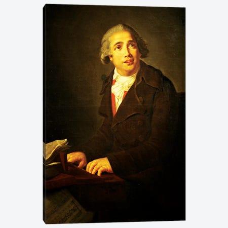 Portrait Of Giovanni Paisiello, 1791 (Conservatorio di Musica San Pietro a Maiella, Naples) Canvas Print #BMN7699} by Elisabeth Louise Vigee Le Brun Canvas Print