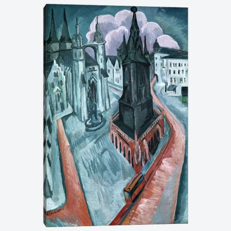 The Red Tower in Halle, 1915  Canvas Print #BMN769} by Ernst Ludwig Kirchner Art Print