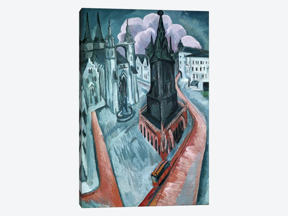The Red Tower in Halle, 1915 1-piece Art Print