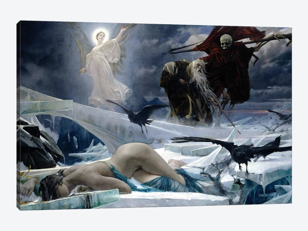 Ahasuerus At The End Of The World by Adolf Hiremy-Hirschl 1-piece Canvas Artwork