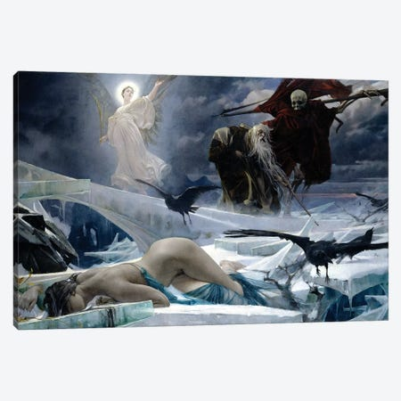 Ahasuerus At The End Of The World 3-Piece Canvas #BMN7700} by Adolf Hiremy-Hirschl Canvas Art Print