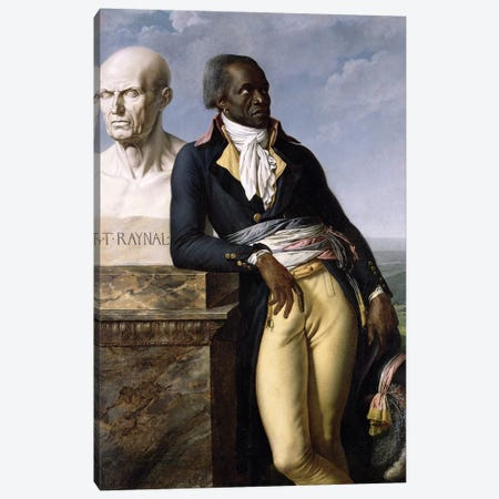 Portrait Of Jean-Baptiste Belley Canvas Print #BMN7701} by Anne-Louis Girodet de Roucy-Trioson Canvas Print