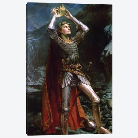 King Arthur, 1903 Canvas Print #BMN7702} by Charles Ernest Butler Art Print