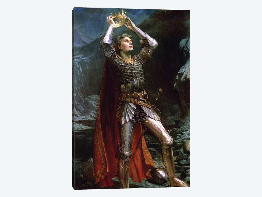 King Arthur, 1903 by Charles Ernest Butler 1-piece Canvas Art