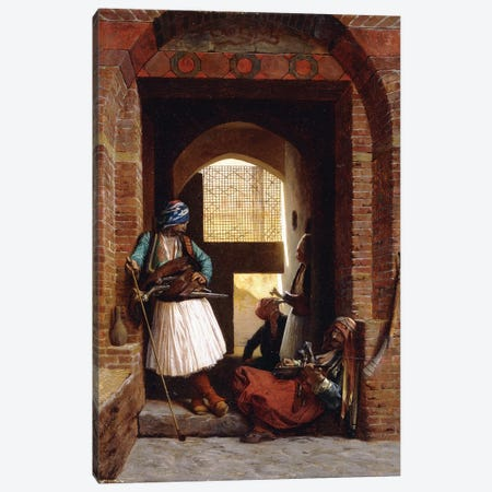 Arnaut Bodyguards In Cairo, 1861 3-Piece Canvas #BMN7709} by Jean Leon Gerome Art Print